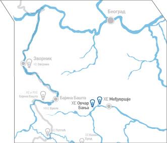 hidroelektrana bajina basta mapa